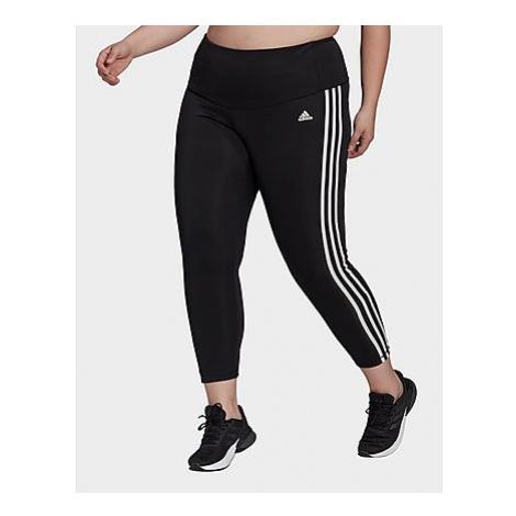 Adidas Designed To Move High-Rise 3-Streifen Sport 7/8-Tight - Große Größen - Black / White - Da