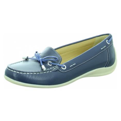 Damen Geox Komfort Slipper blau