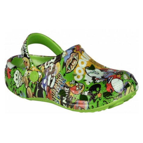 Coqui PRINTED grün - Kinder Sandalen