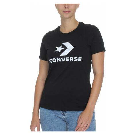 Converse T-Shirt Damen STAR CHEVRON TEE 10018569 001 Schwarz