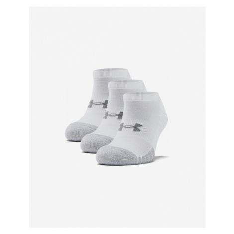 Under Armour HeatGear® 3 Paar Socken Weiß