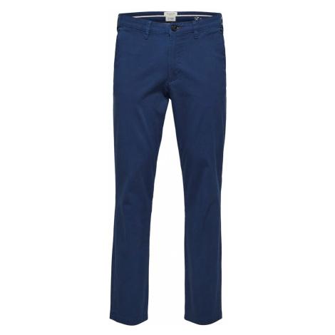 Selected Homme Herren Chino Hose Miles Flex - Slim Fit - Blau