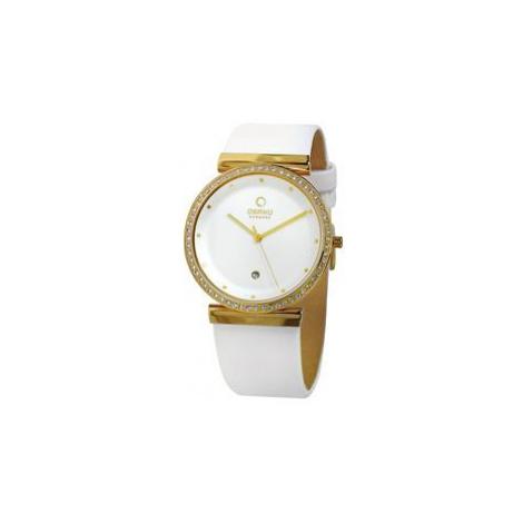 Obaku-Armbanduhr 'Geshe' weiß