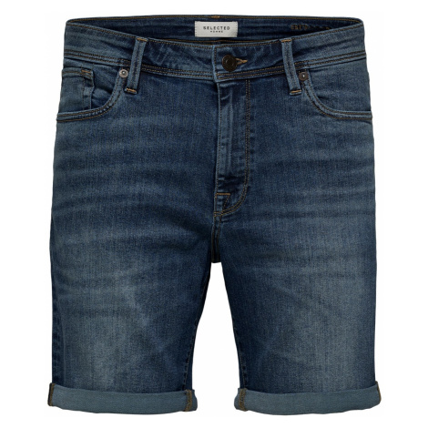 Selected Herren Jeans Shorts Slhalex 329 Mblue Su-St Straight Fit