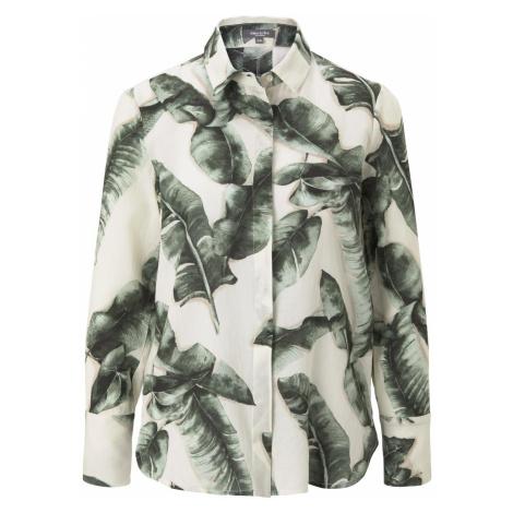 TOM TAILOR MINE TO FIVE Damen Bluse mit Palmenprint aus Lyocell, beige