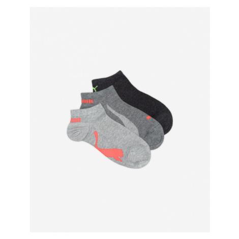 Puma 3 Paar Socken Grau