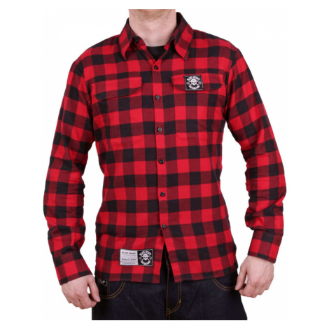 Herrenhemd BLACK HEART - REDNECK - ROT - 008-0003-RED