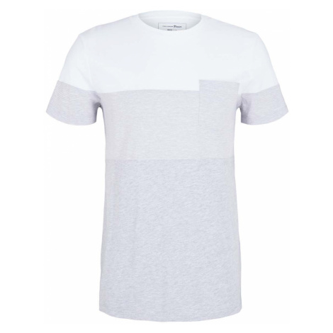 TOM TAILOR DENIM Herren Tshirt mit Brusttasche, grau