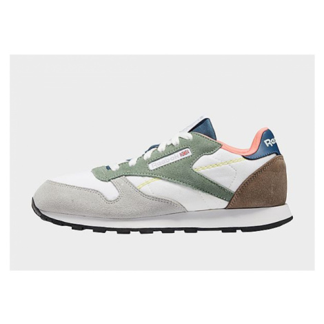 Reebok classic leather shoes - Cloud White / Harmony Green / Brave Blue, Cloud White / Harmony G