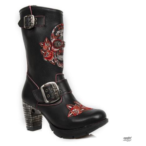 High Heels Frauen - BORDADOS ROJOS, TRAIL NEGRO TACON ACER - NEW ROCK - M.TR047-S3 41