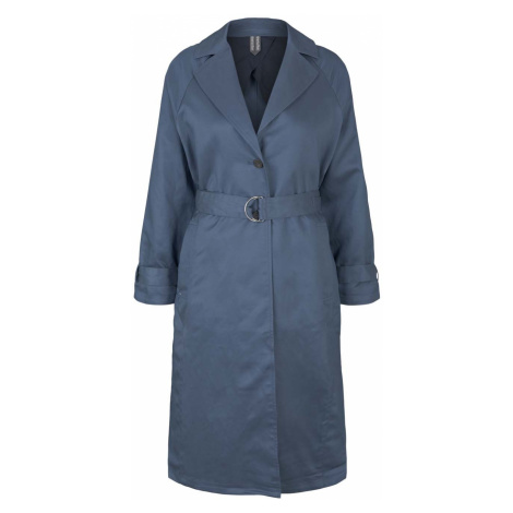 TOM TAILOR MINE TO FIVE Damen Trenchcoat mit Seitenschlitzen, blau