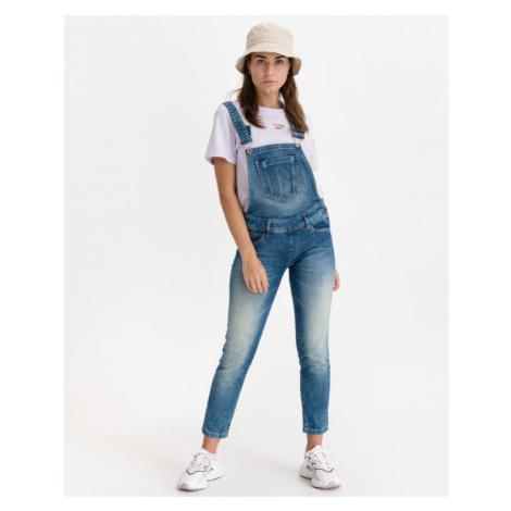 Salsa Jeans Wonder Push Up Jeans mit Hosenträger Blau