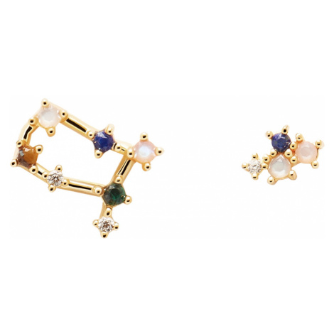 P D Paola AR01-406-U Damen-Ohrringe Sternzeichen Zwilling Silber vergoldet