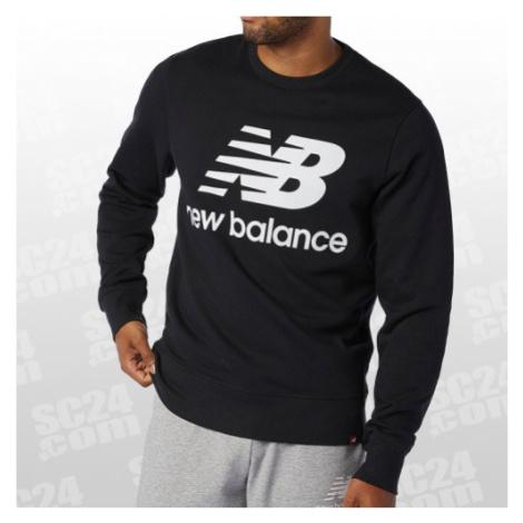 New Balance Essentials Stacked Logo Crew schwarz/weiss Größe S
