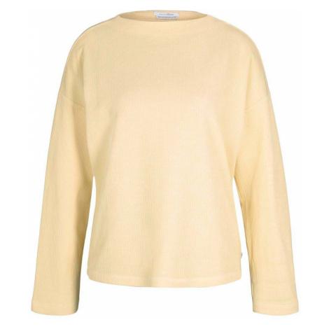 TOM TAILOR DENIM Damen gemütlicher Pullover mit Bio-Baumwolle , gelb