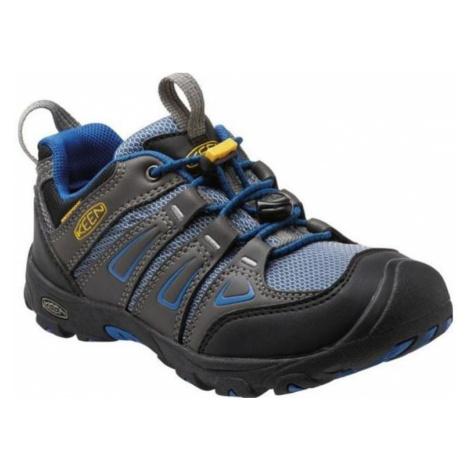 Kinder Schuhe Keen OAKRIDGE LOW WP JR, magnet / wahr blue