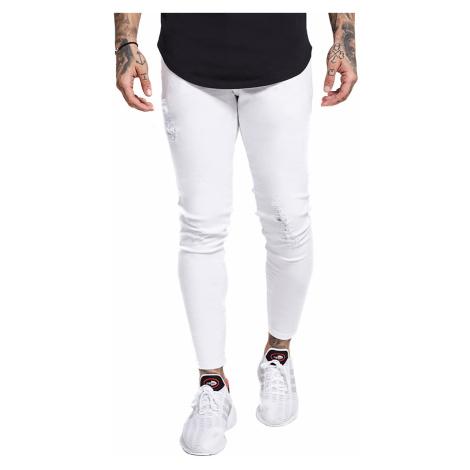 SikSilk Herren Jeans SKINNY DISTRESSED DENIM SS-13121 Weiss White