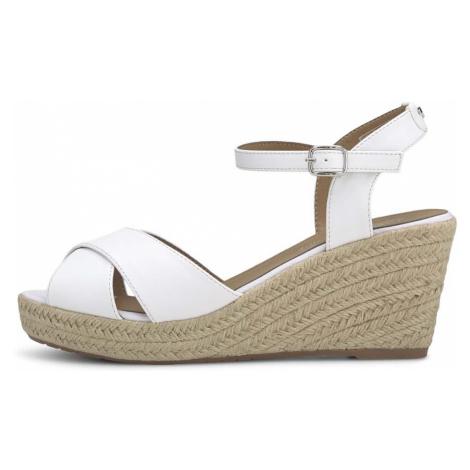 TOM TAILOR Damen Keilabsatz Sandalette, weiß