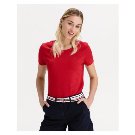 Tommy Hilfiger Slim Round T-Shirt Rot