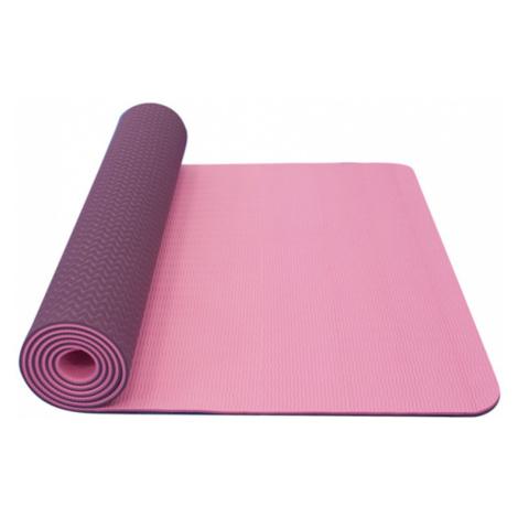 Unterlage  Yoga YATE Yoga Mat doppelschicht / pink / violett / material TPE