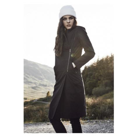 Urban Classics Ladies Peached Long Asymmetric Coat black