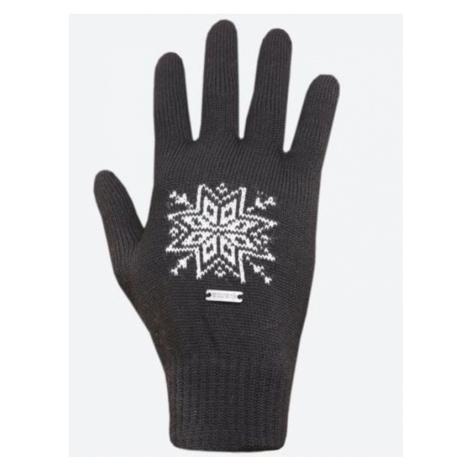 Gestrickte Merino Handschuhe Kama R104 111 dark  grey