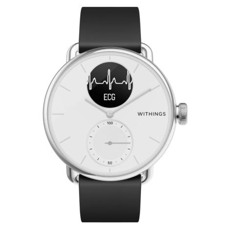 Withings ScanWatch, 38mm, Weiß - Hybrid Smartwatch mit EKG, Herzschlagmesser und Blutsauerstoff