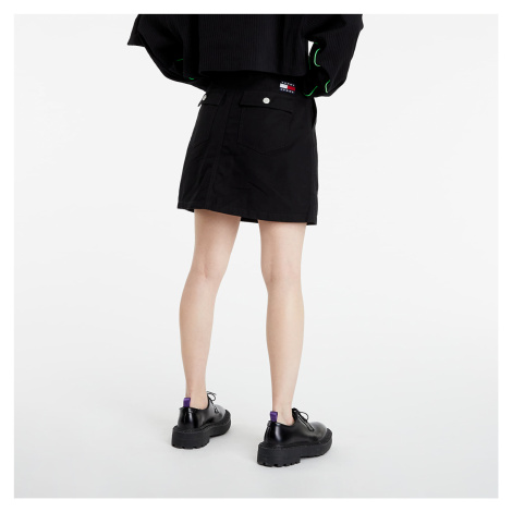 Tommy Jeans Badge Button Through Skirt Black Tommy Hilfiger