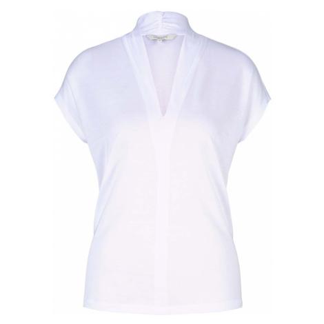 TOM TAILOR MINE TO FIVE Damen T-Shirt mit TENCEL(TM) und V-Ausschnitt, weiß