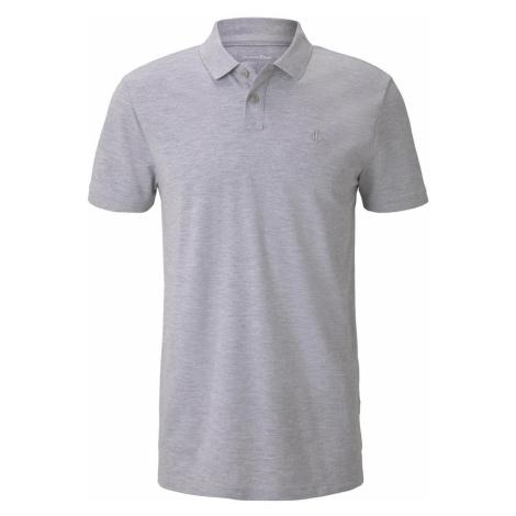 TOM TAILOR DENIM Herren Meliertes Poloshirt, grau