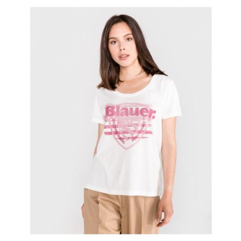 Blauer T-Shirt Weiß