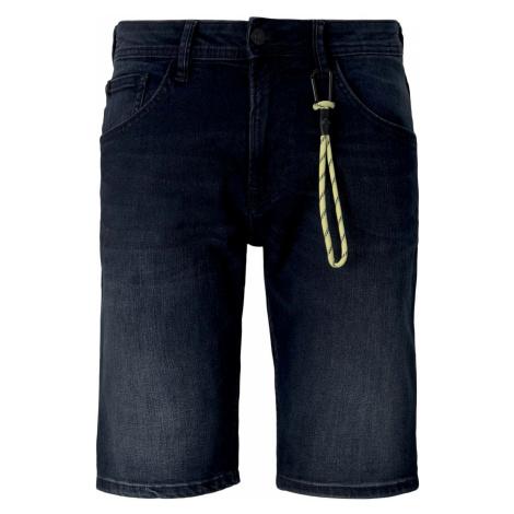 TOM TAILOR DENIM Herren Regular Fit Jeansshorts, schwarz/blau