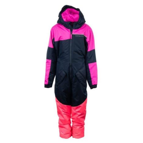 ALPINE PRO BASTO rosa - Kinder Winteroverall