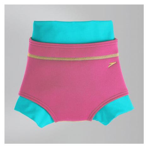 Speedo Schwimmwindel-Badehose, Pink/Blau