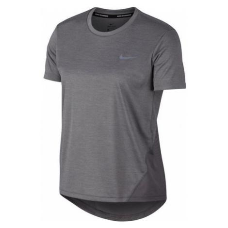 Nike MILER TOP SS W grau - Damen Sportshirt