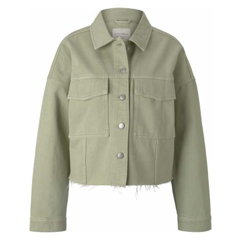 TOM TAILOR DENIM Damen Feld Jeansjacke mit Bio-Baumwolle, grün