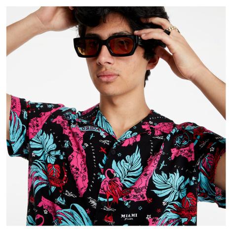 Tommy Jeans Miami Print Camp Shirt Black Miami Aop Tommy Hilfiger
