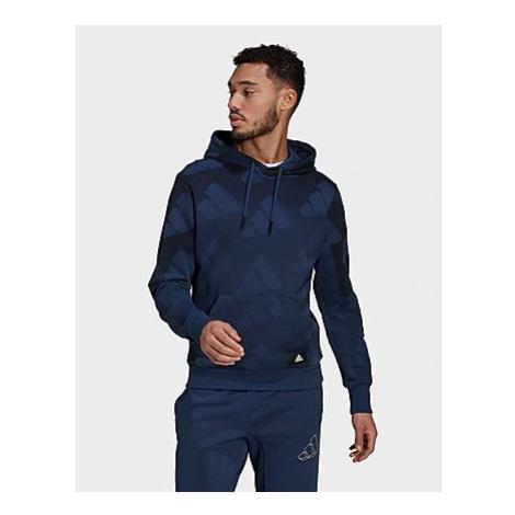 Adidas Sportswear Allover Print Hoodie - Crew Navy / Black - Herren, Crew Navy / Black