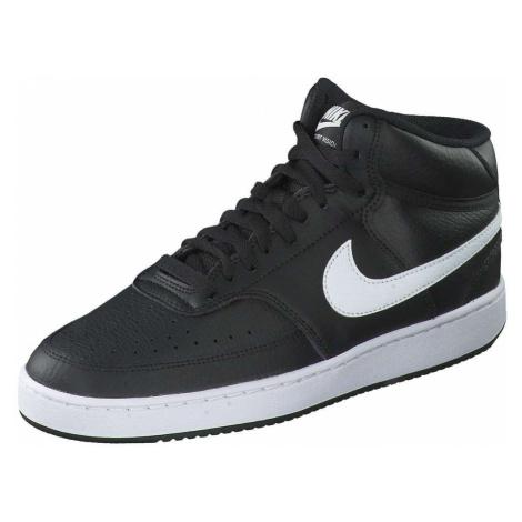 Nike Court Vision Mid Sneaker Herren schwarz