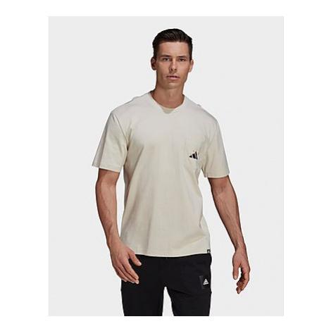 Adidas Mandala Graphic T-Shirt - Aluminium - Herren, Aluminium