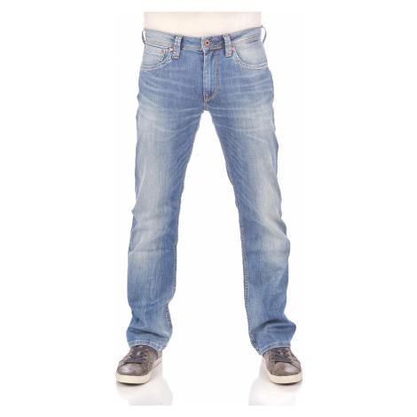 Pepe Jeans Herren Jeans Kingston Zip - Regular Fit - Blau - Medium Used