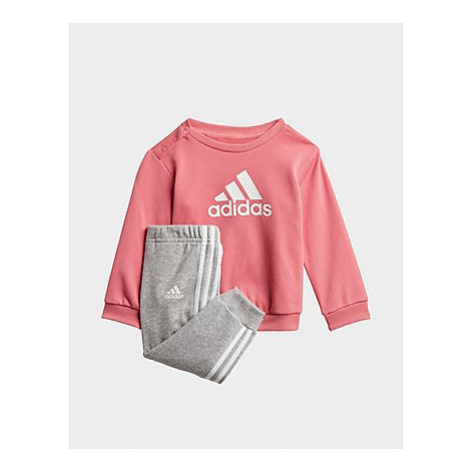 Adidas Badge of Sport French Terry Jogginghose - Hazy Rose / White, Hazy Rose / White