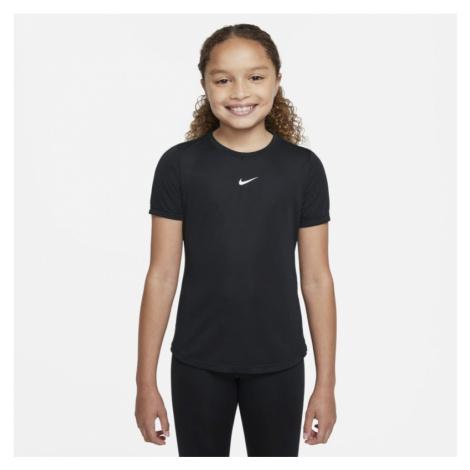 Nike Dri-FIT One Kurzarm-Oberteil für ältere Kinder (Mädchen) - Schwarz