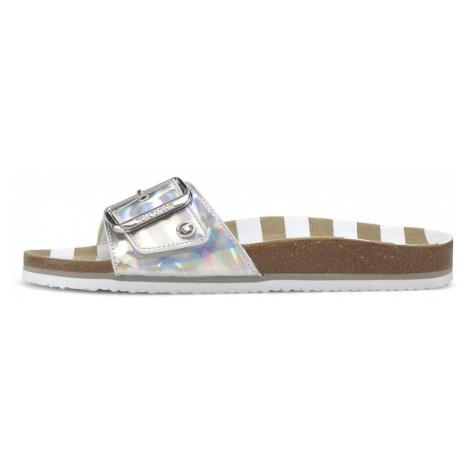 TOM TAILOR Damen Sandale mit Schnalle, grau