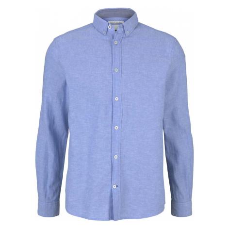 TOM TAILOR Herren Leinen Hemd, blau