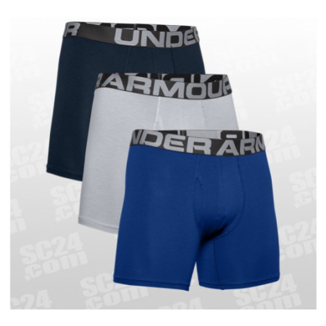 Under Armour Charged Cotton Boxerjock 6 inch 3-Pack blau/grau Größe LG