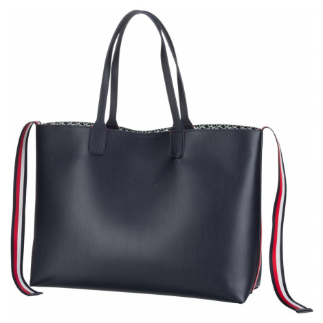 Tommy Hilfiger Handtasche Iconic Tommy Tote Signature PF20 Sky Captain (21.1 Liter)