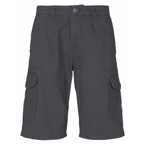 TOM TAILOR Herren Twill Cargo Shorts, grau