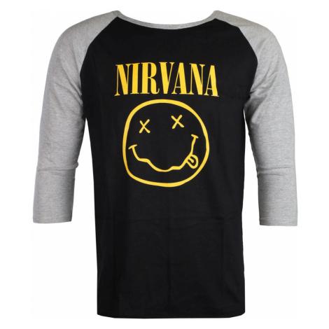 Metal T-Shirt Männer Nirvana - Yellow Smiley - ROCK OFF - NIRVRL04MB XXL