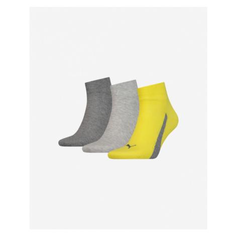 Puma 3 Paar Socken Gelb Grau
